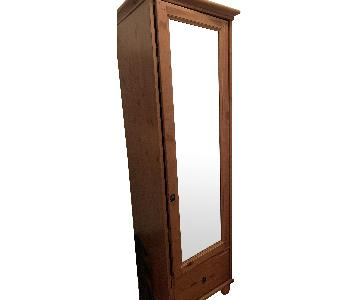 Solid Pine Armoire w/ Mirrored Front