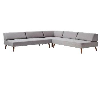 West Elm Retro Tillary 8-Piece Sectional Sofa