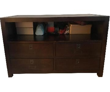 Pottery Barn Dark Wood Media Console