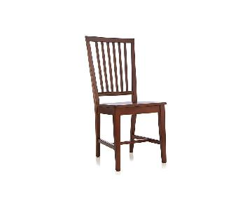 Crate & Barrel Village Aretina Wood Dining Chairs
