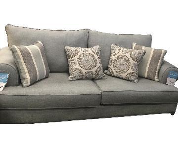Raymour & Flanigan Light Blue Sleeper Sofa