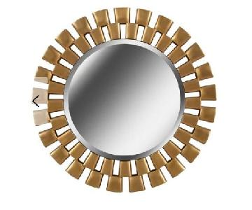 Willa Arlo Interiors Gold Circular Hanging Wall Mirror