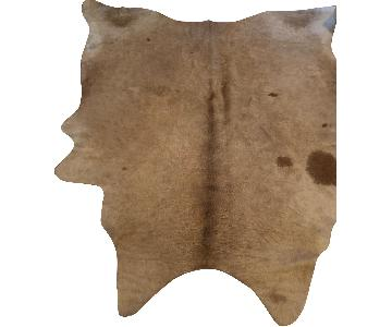 South American Hides Light Beige Natural Cowhide Rug
