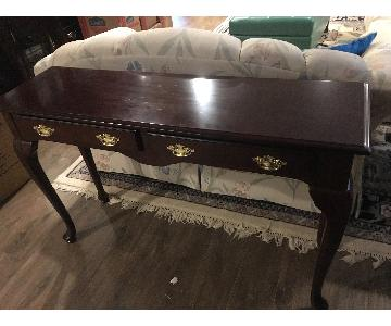 Vintage Queen Anne Style Sofa Table
