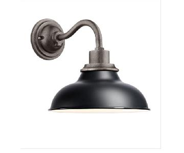 Rejuvenation Carson Outdoor Wall Sconce in Matte Black