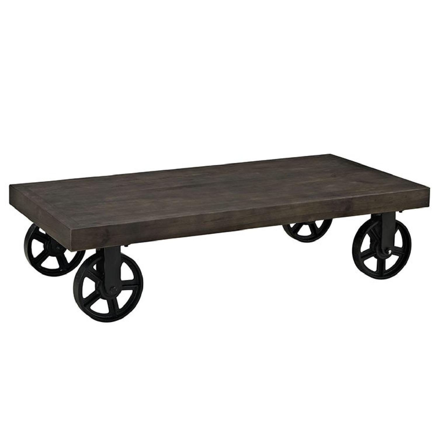 Ganso Wood Top Coffee Table in Black