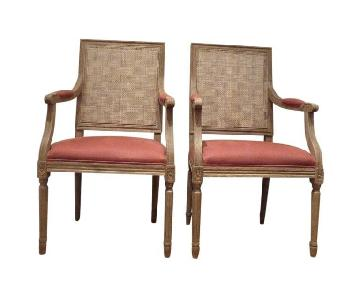 Restoration Hardware Cane Back Chairs