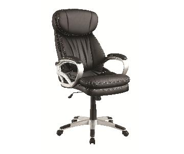 Office Chair w/ Thick Seat & Back Cushions + Plush Head & Arm Rests