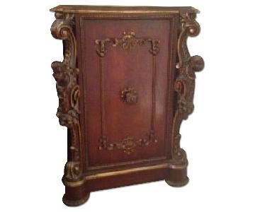 ABC Carpet and Home Antique Cabinet w/ Gothic Heads