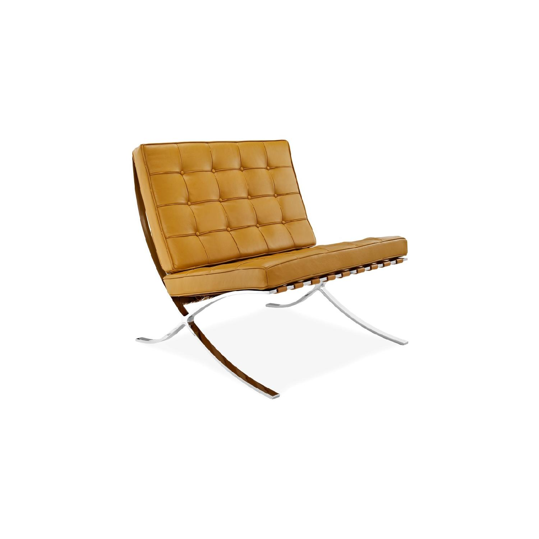 Barcelona Chair Replica in in Tan