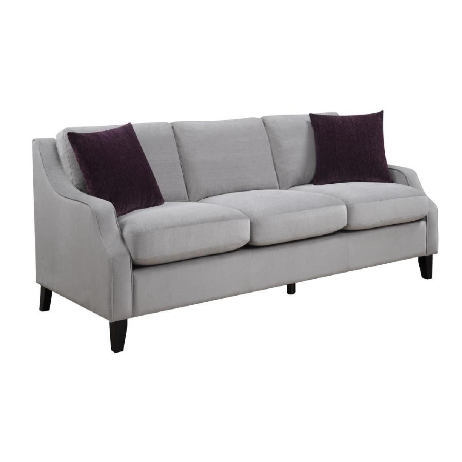 Premium Plush Fabric Tailored Silhouette Sofa w/ Feather Dow