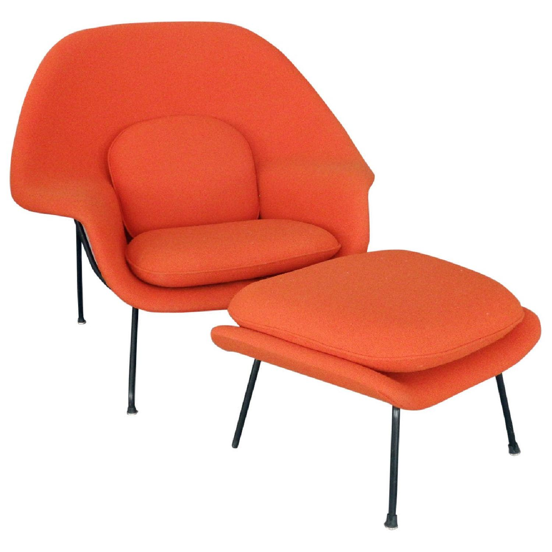 Womb Chair Replica In Orange ...