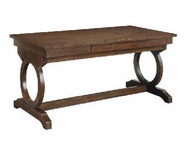 Writing Desk in Chestnut Finish & Felt Lined Drawer