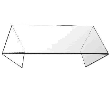 Modern Minimalist Sculpture Glass Coffee Table