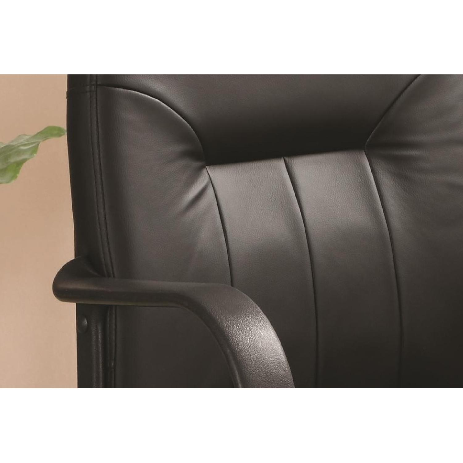 Office Chair in Leather-like Vinyl w/ Arm Rests - image-2