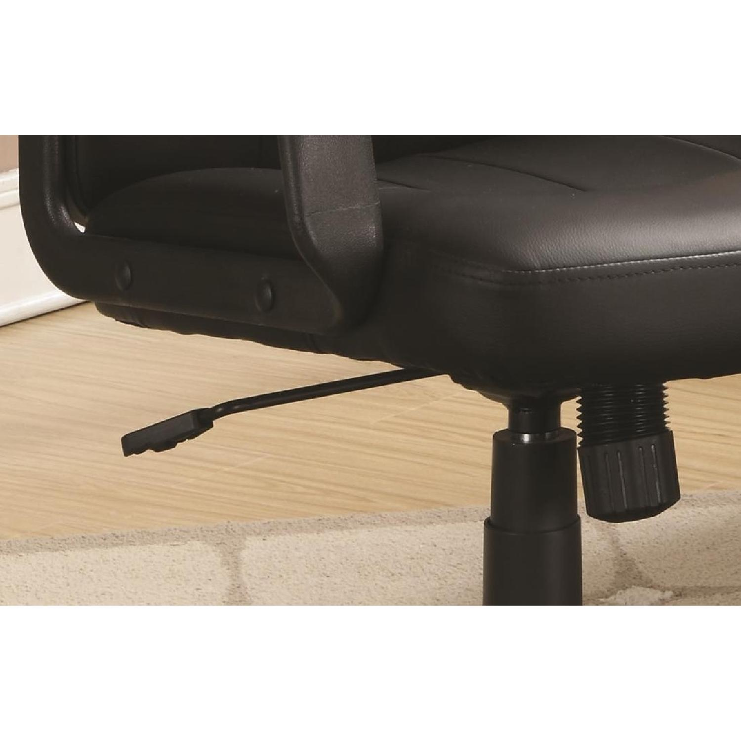 Office Chair in Leather-like Vinyl w/ Arm Rests - image-3