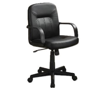 Office Chair in Leather-like Vinyl w/ Arm Rests