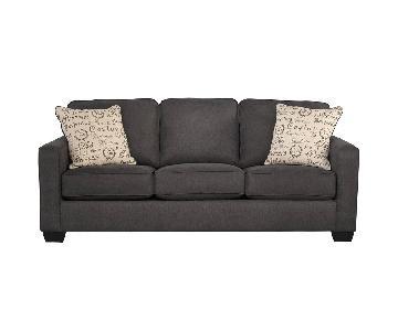 Ashley Grey Pull Out Sleeper Sofa