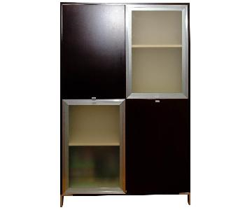 Della Robbia Side Cabinet in Wenge w/ Frosted Doors
