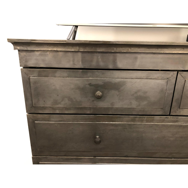 Restoration Hardware Annecy Metal-Wrapped 5-Drawer Dresser-5