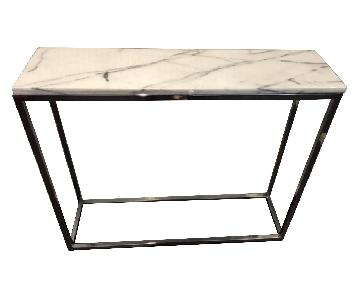 Crate & Barrel Marble Top Console/Entry Table