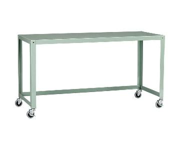 CB2 Go-Cart Mint Console Table