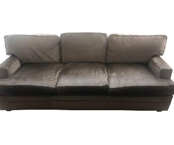Pearson Brown Suede Sofa