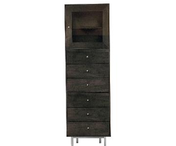 Room & Board Hudson Custom 3 Insert Cabinet in Charcoal Grey