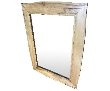 Crate & Barrel Teak Frame Mirror