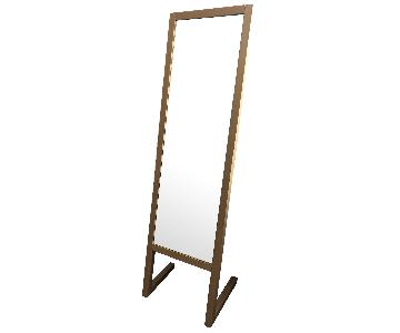 Room & Board Standing Mirror in Maple