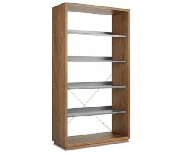 Blu Dot Wooden Frame Shelf Unit w/ Metallic Shelves