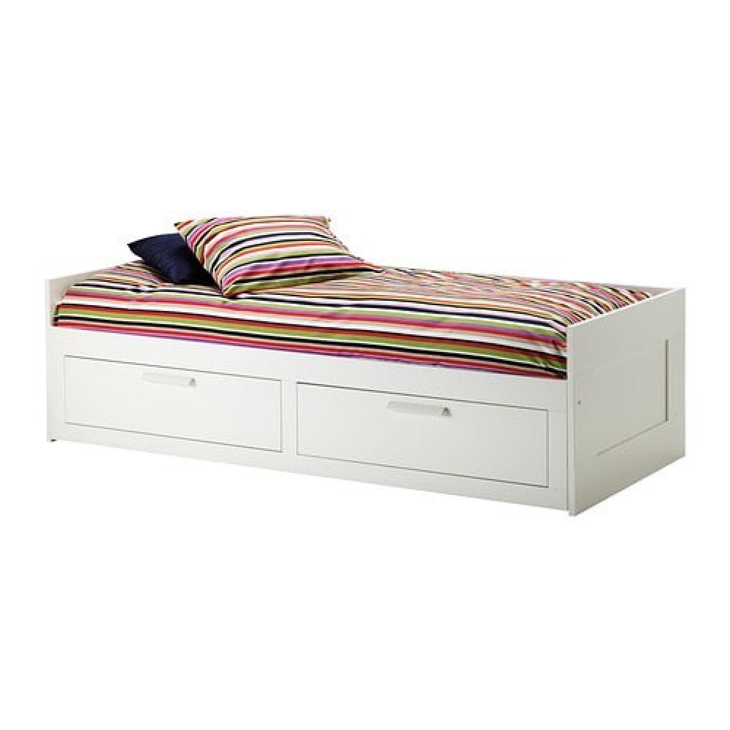 Ikea Twin Bed Frame w/ 2 Drawer