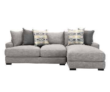 Raymour & Flanigan Right Arm Facing Grey Sectional Sofa