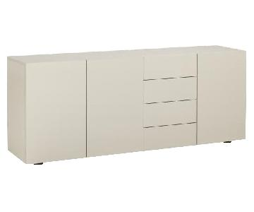 Habitat Aspen White Lacquer Storage Unit