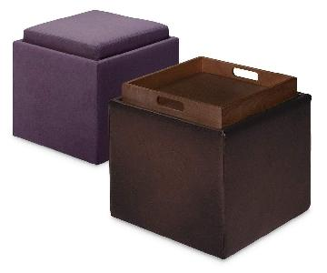 Room & Board American Leather Uno Storage Ottoman