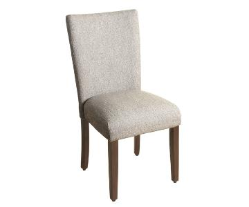 Porch & Den Grey Tweed & Wood Dining Chairs -