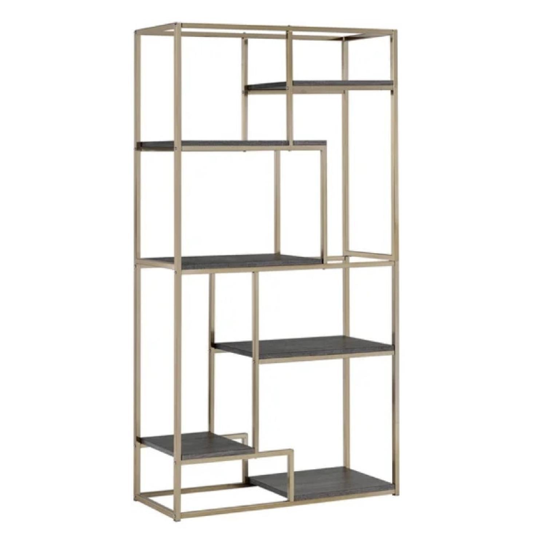 Furniture of America Gold Open 6-Shelf Bookcase/Etagere
