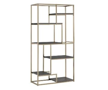 Furniture of America Gold Open 6-Shelf Bookcase/Etagere