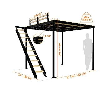 Loft Bed TS 8 w/ Lateral Stairs