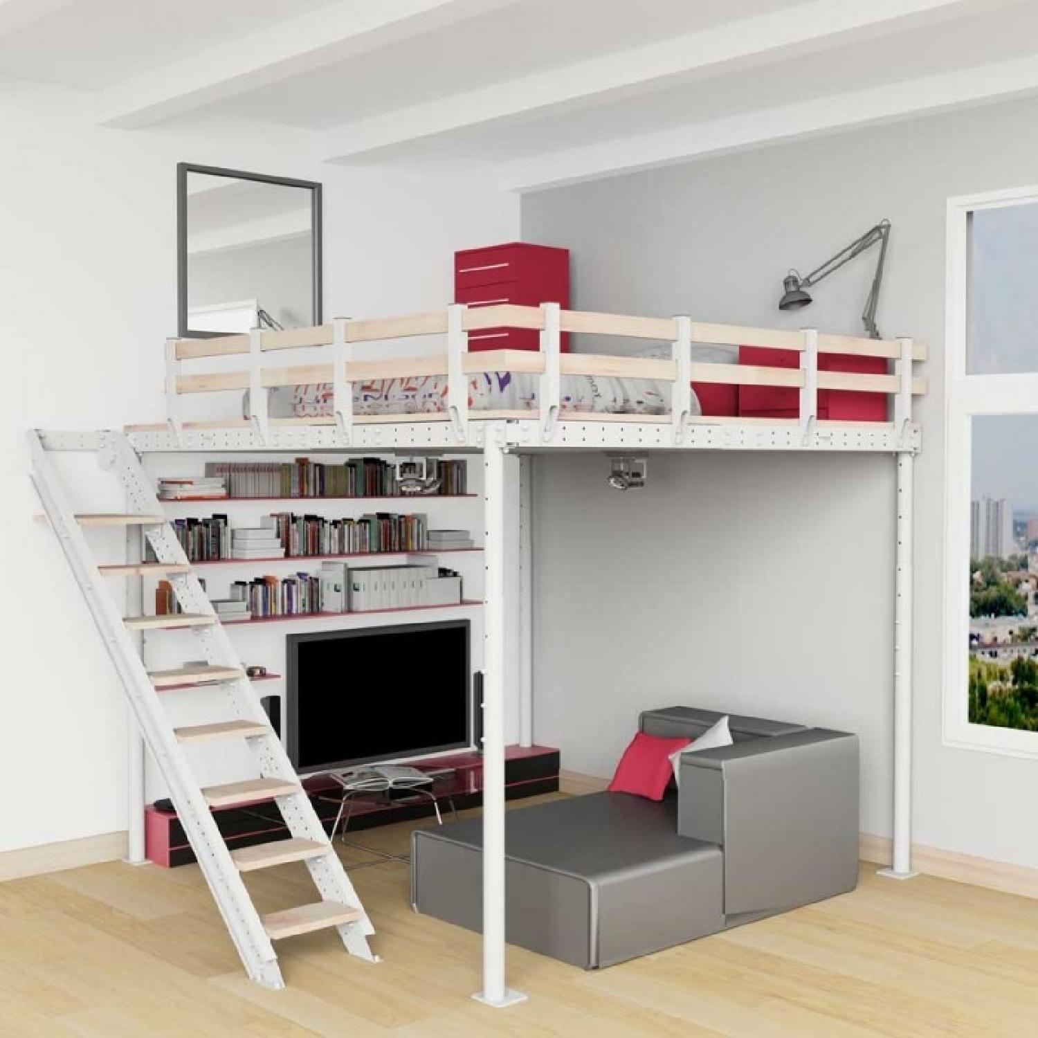 Loft Bed TS 8 w/ Lateral Stairs - image-1