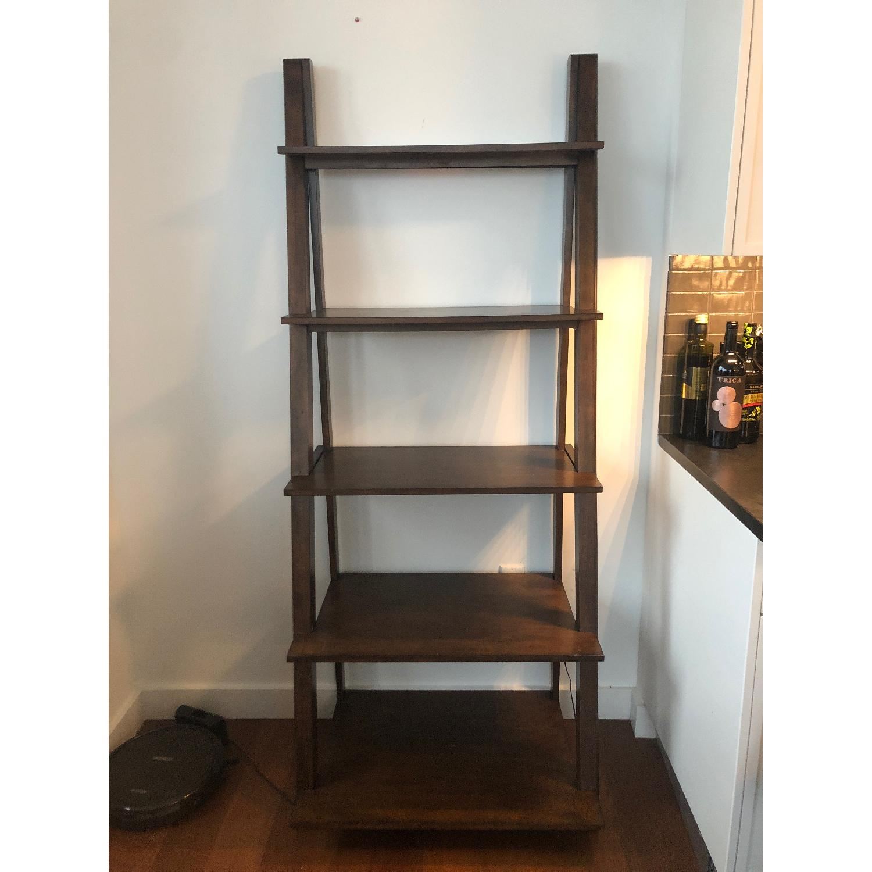 Wood Ladder Bookcase-0