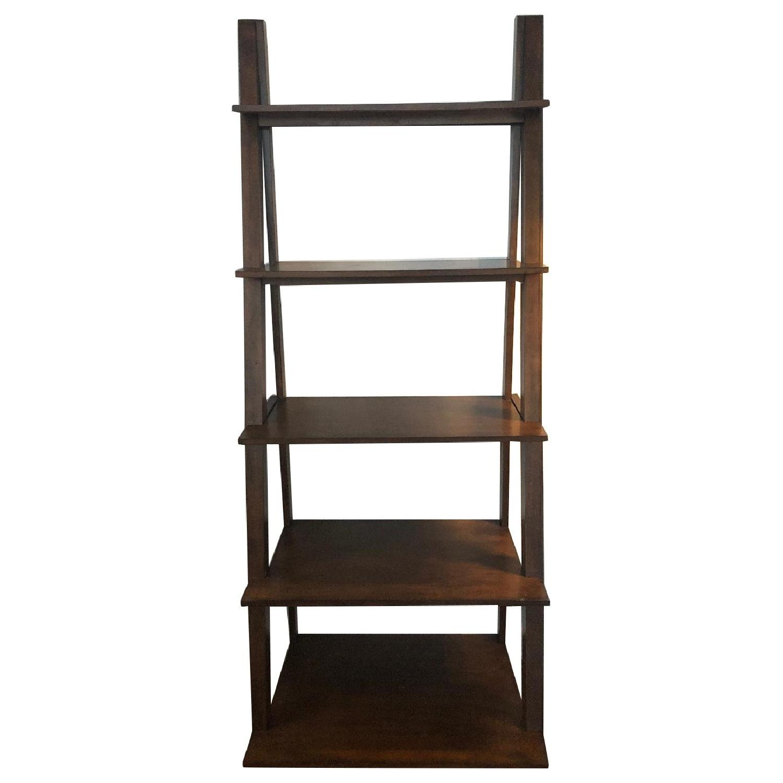Wood Ladder Bookcase