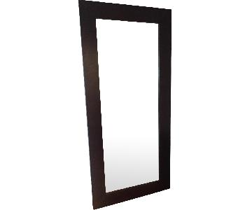 Modern Wood Frame Full Length Mirror