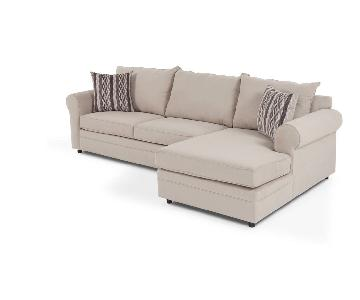 Bob's Venus 2-Piece Sleeper Sectional Sofa