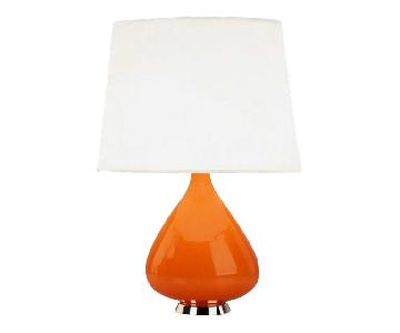 Jonathan Adler Capri Orange Teardrop Table Lamp