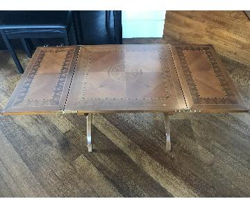 Vintage Convertible Side Table/Coffee Table