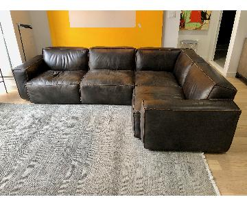 Timothy Oulton Leather 4-Piece Sectional Sofa