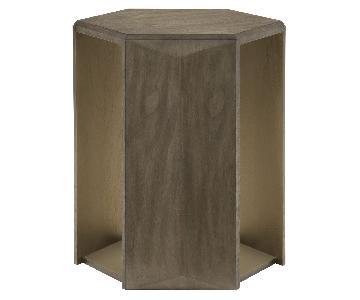 Bernhardt Profile Hexagon Chairside Table