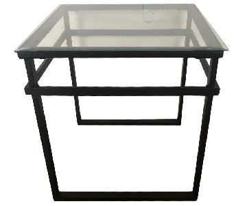 Glass & Metal Coffee Table + 2 End Tables