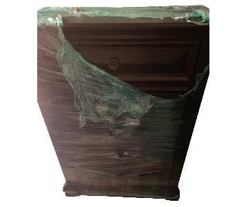 Dark Brown Wood Dresser